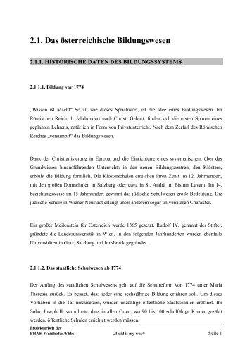 2.1. Das österreichische Bildungswesen - HAK Waidhofen/Ybbs