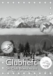 Clubheft 2013 - Ski Club Brienz