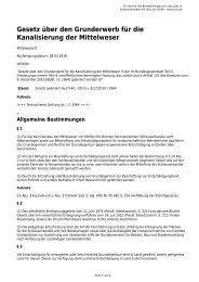 Gesetz über den Grunderwerb für die Kanalisierung der Mittelweser