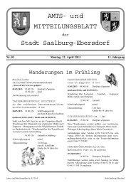 Nr. 03-2013 22. April 2013 - Stadt Saalburg-Ebersdorf
