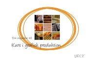Broschyr i grafisk produktion - Sanna Sporrong Form