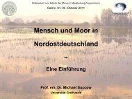 Mensch und Moor (in Nordostdeutschland) – Eine Einführung