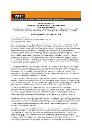 Silvia Staub-Bernasconi Zentrum für Postgraduale Studien ... - ZPSA