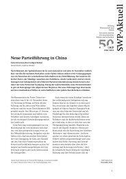 Neue Parteiführung in China. Generationswechsel aufgeschoben