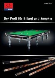 Der Profi für Billard und Snooker - Winsport