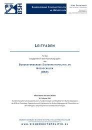 Leitfaden (PDF) - Bundesverband Sicherheitspolitik an Hochschulen