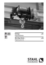 Seilzüge _ Originalteileliste Wire Rope Hoists _ Original parts list