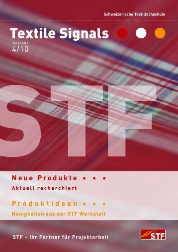 Ausgabe 4/10 - Schweizerische Textilfachschule STF