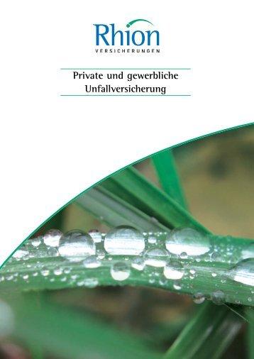 Private und gewerbliche Unfallversicherung