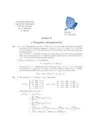 Universität Würzburg Institut für Mathematik Prof. Dr. H. Pabel Dr. T ...