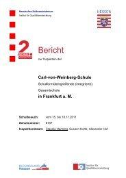 Bericht - Carl-von-Weinberg-Schule