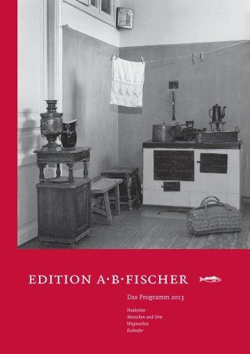 Verlagsprogramm 2013 - Angelika Fischer