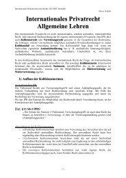 Internationales Privatrecht Allgemeine Lehren - WikiService.at
