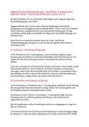 """Allgemeine Geschäftsbedingungen """"Workshops ... - Gabrielle Odinis"""