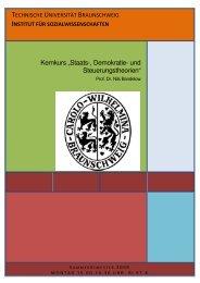 """Kernkurs """"Staats-, Demokratie- und Steuerungstheorien"""""""