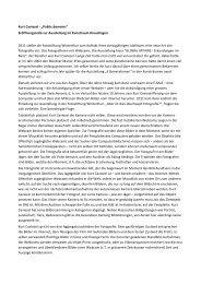 Kurt Caviezel Rede - Kunstraum Kreuzlingen