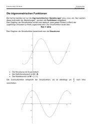 Die trigonometrischen Funktionen - Kantonsschule Solothurn