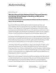 FDA erteilt Zulassung für Roche-Medikament Kadcyla (Trastuzumab ...