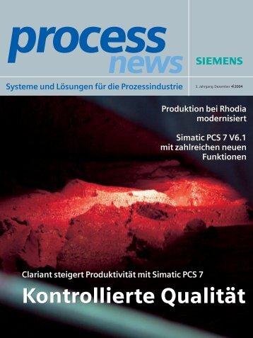Kontrollierte Qualität Kontrollierte Qualität - Siemens