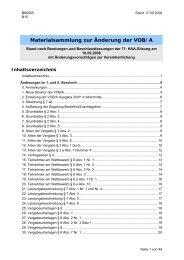 Materialsammlung zur Änderung der VOB/A - Oeffentliche Auftraege