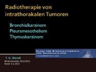 Vorlesung 9. Semester Bronchial-CA - Klinik für Strahlentherapie ...