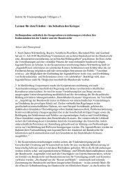 Lernen für den Frieden – im Schatten des Krieges - Institut für ...