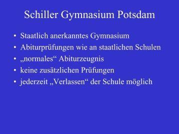 Zugangsberechtigung - Schiller-Gymnasium Potsdam