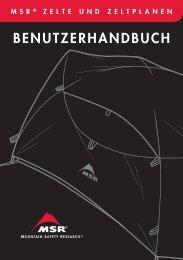 BENUTZERHANDBUCH - Cascade Designs, Inc.