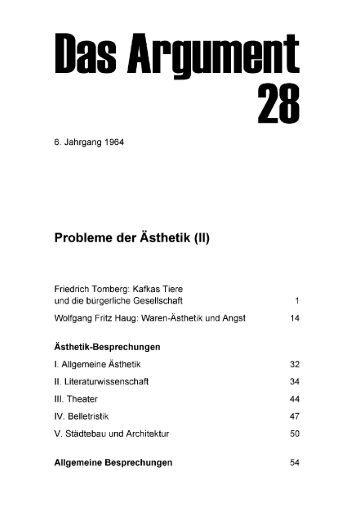 Probleme der Ästhetik (II) - Berliner Institut für kritische Theorie eV