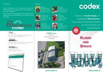 KLEBER UND SPRAYS - Codex doo