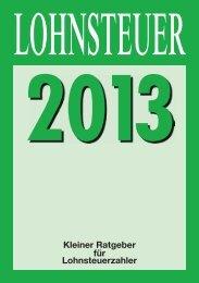 Lohnsteuer 2013 - Ministerium der Finanzen