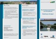 Raumanpassungsstrategien zum Klimawandel Modellregion Stuttgart