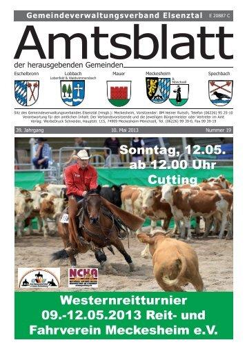 Westernreitturnier 09.-12.05.2013 Reit- und ... - Gemeinde Mauer