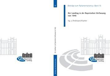 Band 15 - Beiträge zum Parlamentarismus - Fachbereich ...
