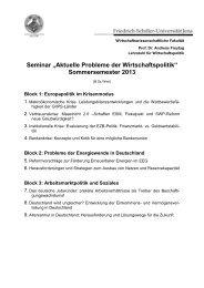 Informationen & Seminarthemen - WiWi Fakultät