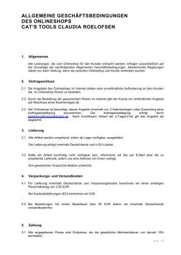 Allgemeine Geschäftsbedingungen (AGB) für ... - Claudi´s Klötze