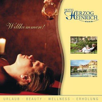 Prospekt 2013 - Hotel Herzog Heinrich