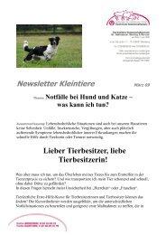 Newsletter als PDF-Dokument runterladen - Tierärztliche ...