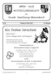 Ein frohes Osterfest - Stadt Saalburg-Ebersdorf