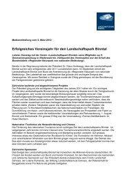Medienmitteilung vom 5. März 2012 - Landschaftspark Binntal