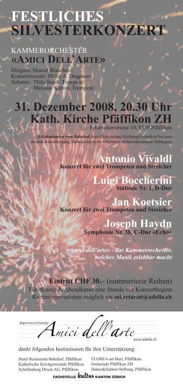 Download Konzertflyer - Kammerorchester «Amici dell'arte