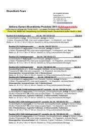 Aktions-Garten-Strandkörbe Preisliste 2013 Halbliegemodelle