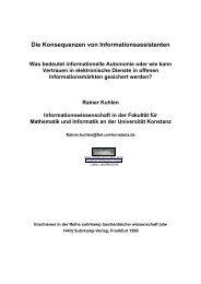 Die Konsequenzen von Informationsassistenten - Prof. Dr. Rainer ...
