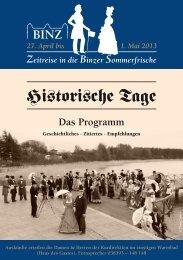 Historische Tage - Kurverwaltung Ostseebad Binz