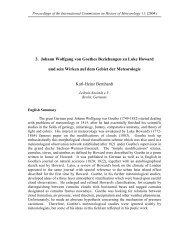 3. Johann Wolfgang von Goethes Beziehungen zu Luke Howard ...
