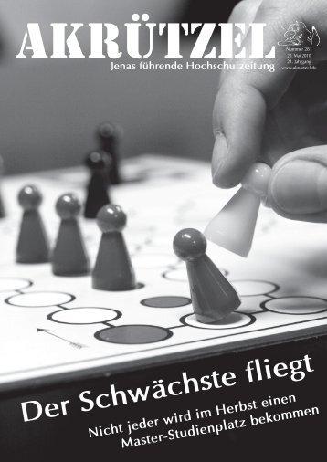 Der Schwächste fliegt - Friedrich-Schiller-Universität Jena