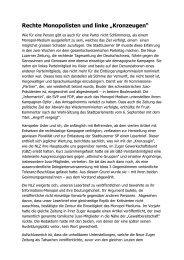 "Rechte Monopolisten und linke ""Kronzeugen"" - Josef Lang"