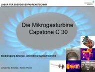 Capstone C30 Gasturbine - Hochschule Ansbach