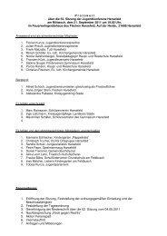 1. Eröffnung der Sitzung, Feststellung der ordnungsgemäßen ...
