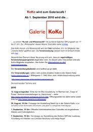 KoKo wird zum Galeriecafe - Galerie KoKo